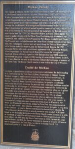 Historical Plaque on Sandwich Town Arch